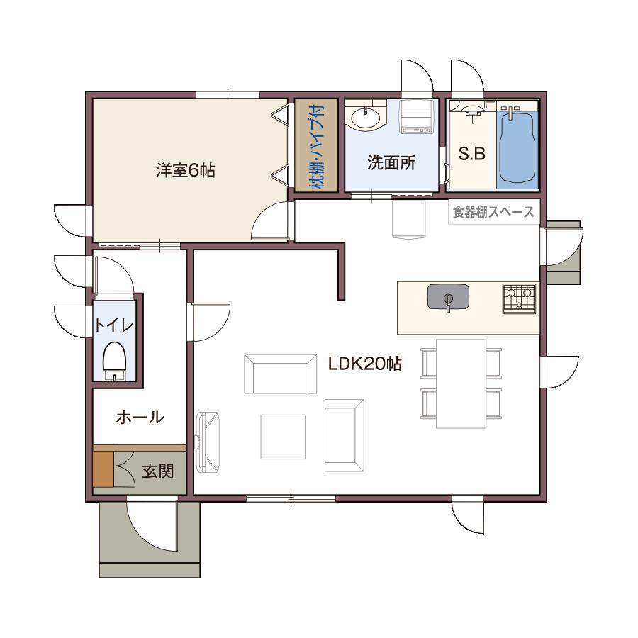 1階仕上げ 平面図