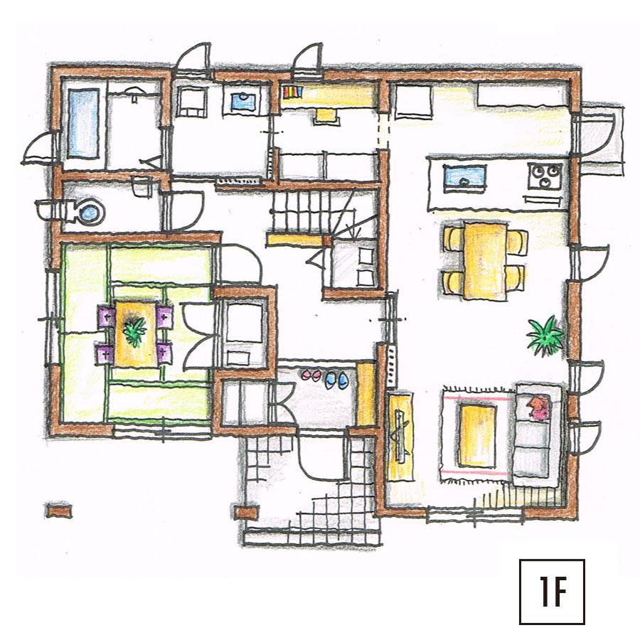 ツィーゲル 平面図1F