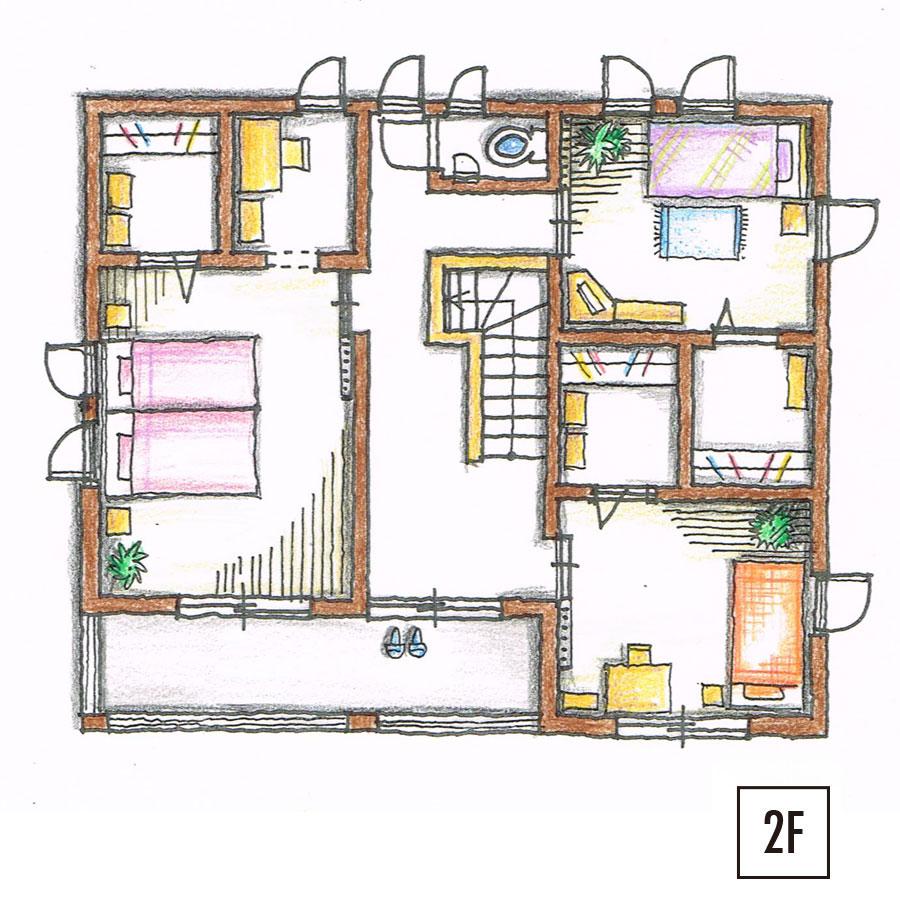 ツィーゲル 平面図2F