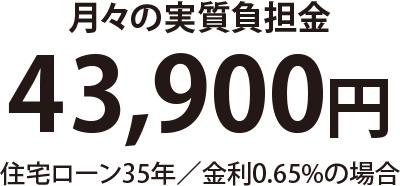 月々実質負担金 41,300円