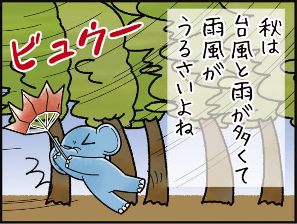 秋編/台風でも静か